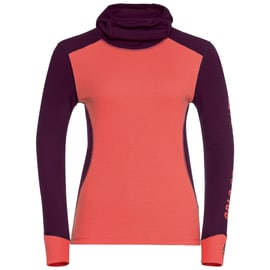 Odlo Shirt l/s with Facemask WARM R Beere