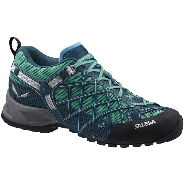 Salewa WS Wildfire S GTX Damen (Petrol 7 UK 40.5 EU ) | Schuhe Multifunktionssch