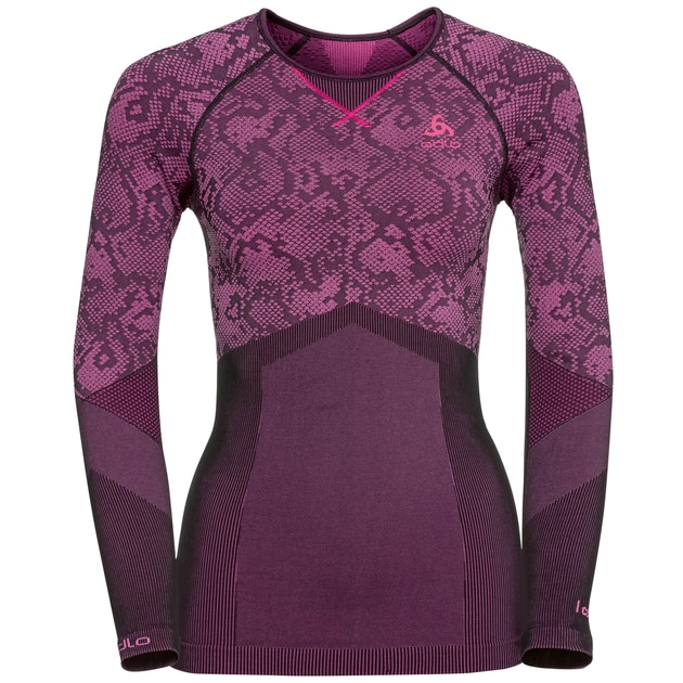 Odlo Blackcomb Evolution Warm Shirt l s W Damen (Pink XS INT ) | Bekleidung Unte