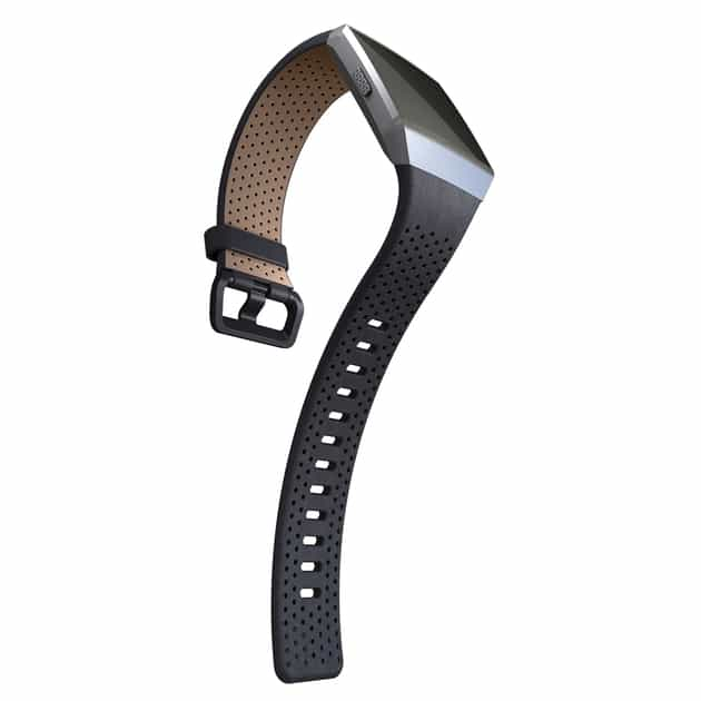 Fitbit Ionic Armband Perforated Leather bei Sport Schuster München