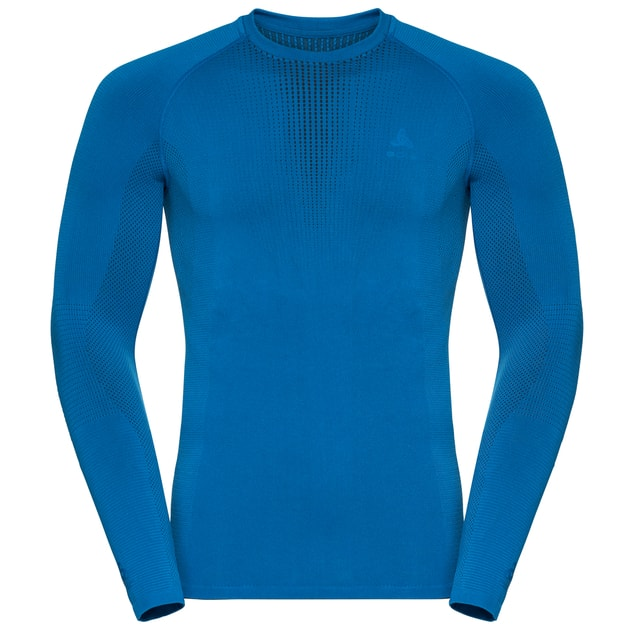 Odlo Performance Warm Bl Top Crew Neck L/S Men bei Sport Schuster München