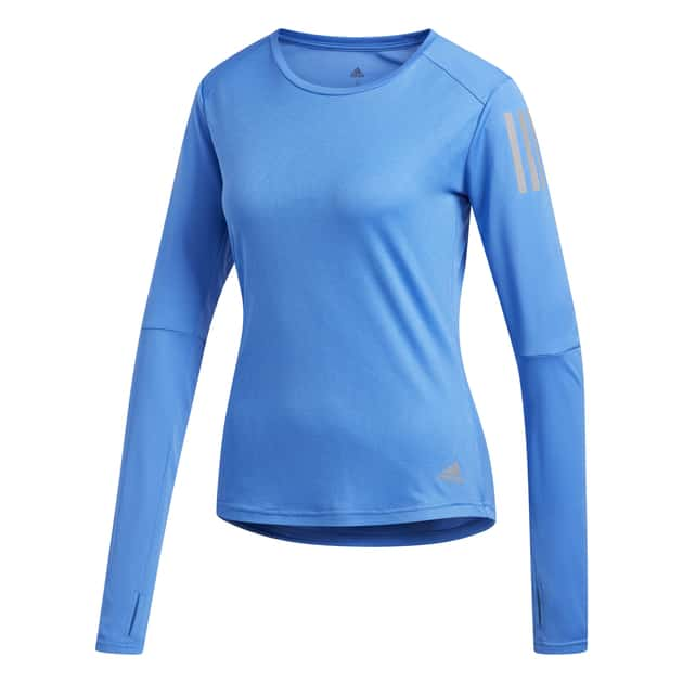 bei Sport-Schuster: adidas Own the Run Longsleeve Damen -  Blau L INT - Shirts