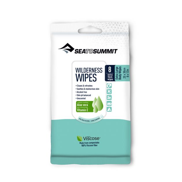 Sea to Summit Wilderness Wipes Extra Large 8 Pack bei Sport Schuster München