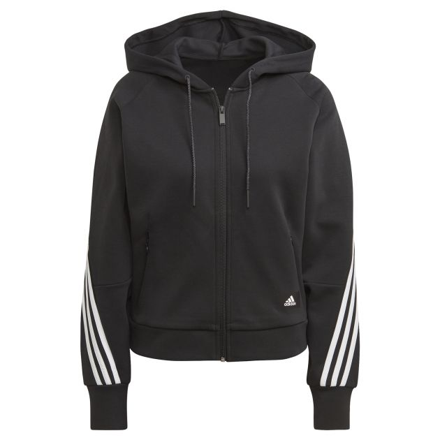 adidas W Branded Icons 3 Stripes Full-Zip Hoodie bei Sport Schuster München