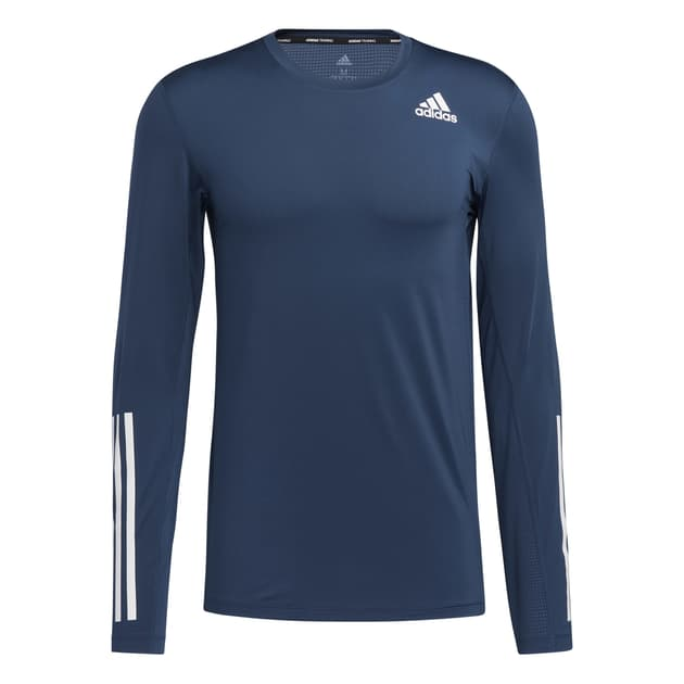 adidas M Techfit Fitted Long Sleeve 3 Stripes Top bei Sport Schuster München